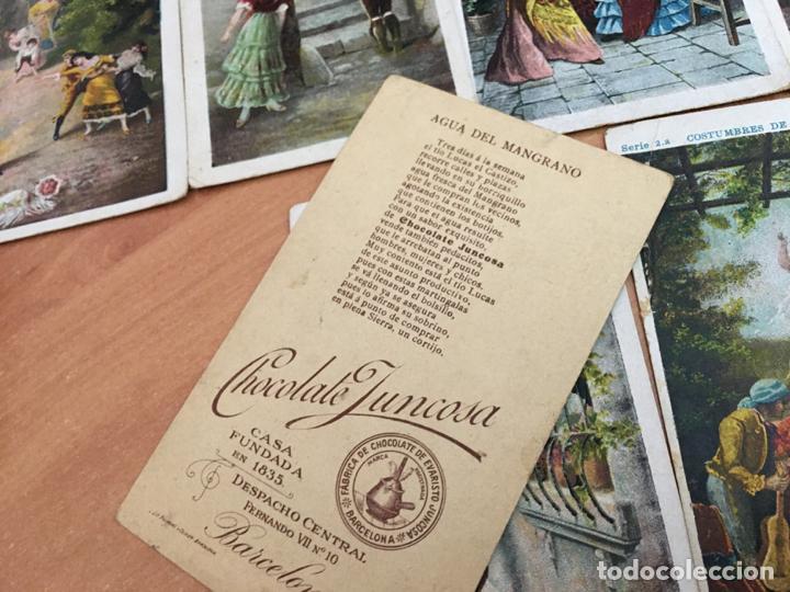 Coleccionismo Cromos antiguos: COSTUMBRES DE ANDALUCIA LOTE 12 CROMOS (CHOCOLATE JUNCOSA) (CRIP6) - Foto 2 - 194640091