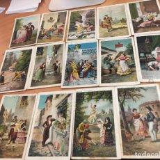 Coleccionismo Cromos antiguos: COSTUMBRES DE ANDALUCIA LOTE 12 CROMOS (CHOCOLATE JUNCOSA) (CRIP6). Lote 194640091