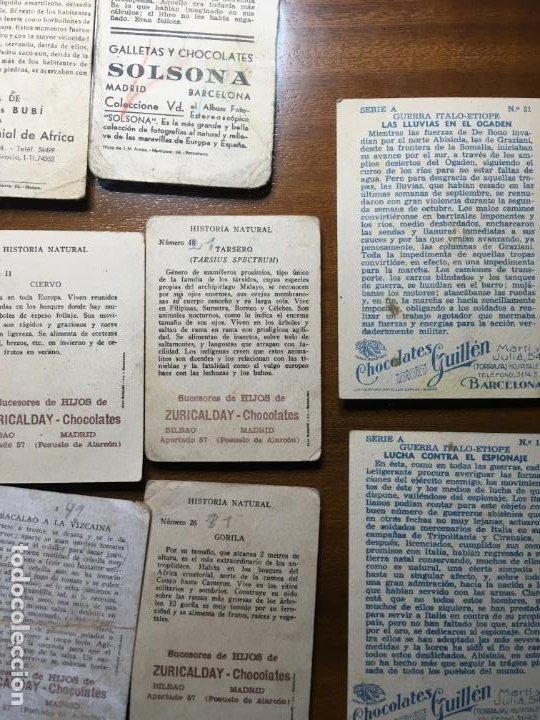 Coleccionismo Cromos antiguos: Lote 16 cromos chocolates Zuricalday,Bilbao.Chocolates Guillen, Bubí-Africa y Solsona, Vilr - Foto 6 - 194645920