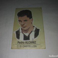 Coleccionismo Cromos antiguos: PEDRO ALCAÑIZ CLUB CASTELLON N° 81 BOLLYCAO CARICATURAS DE FUTBOLISTA FAMOSOS PEGATINA CROMO FUTBOL. Lote 194657168