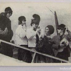 Coleccionismo Cromos antiguos: CROMO Nº 91 COLECCIÓN CABALLEROS DE LA POPULARIDAD BEATLES EN ESPAÑA BARCELONA BRUGUERA 1966. Lote 194657445
