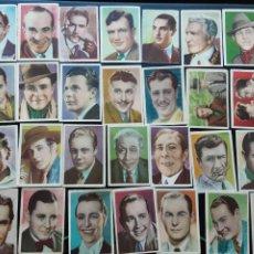 Coleccionismo Cromos antiguos: LOTE DE 79 CROMOS CINEFOTO BRUGUERA TAMAÑO PEQUEÑO, ACTORES. Lote 194697225
