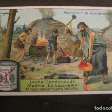 Coleccionismo Cromos antiguos: CAZA DEL MAMUT-CROMO ANTIGUO-PUBLICIDAD LECHE CONDENSADA LA LECHERA-VER FOTOS-(V-19.125). Lote 194736025
