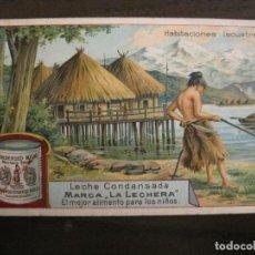 Coleccionismo Cromos antiguos: HERRERIA PREHISTORICA-CROMO ANTIGUO-PUBLICIDAD LECHE CONDENSADA LA LECHERA-VER FOTOS-(V-19.126). Lote 194736056