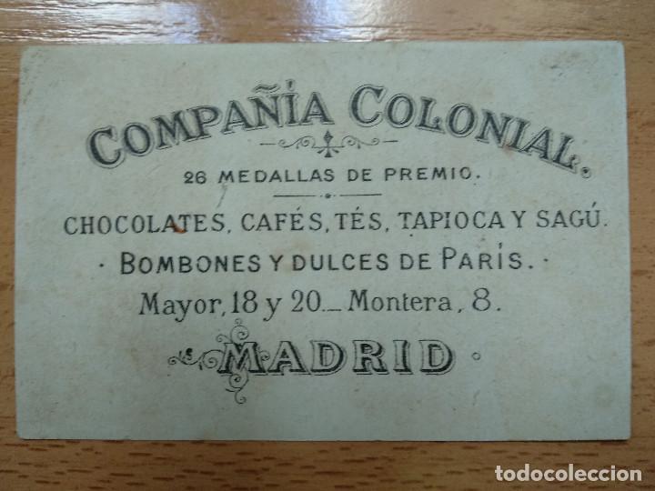 Coleccionismo Cromos antiguos: CROMO COMPAÑIA COLONIAL. CHOCOLATES, CAFES, TES TAPIOCA Y SAGÚ, MADRID. - Foto 2 - 194892158