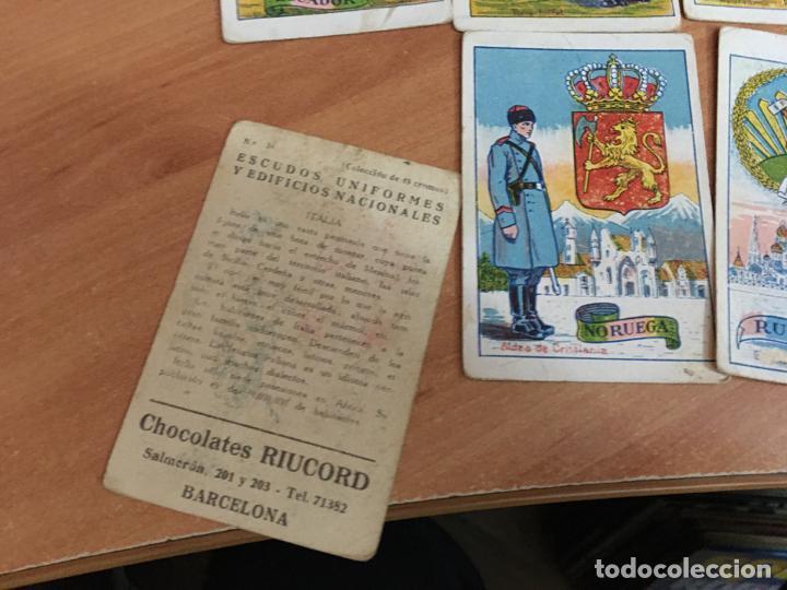 Coleccionismo Cromos antiguos: ESCUDOS UNIFORMES Y EDIFICIOS NACIONALES LOTE 20 CROMOS DIFERENTES CHOCOLATES RIUCORD (CRIP6) - Foto 2 - 194895036