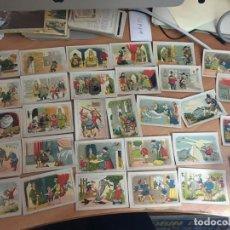 Coleccionismo Cromos antiguos: BERTOLDO, BERTOLDINO Y CACASENO LOTE CON 30 DE 36 CROMOS CHOCOLATES GUILLEN (CRIP6). Lote 194897045