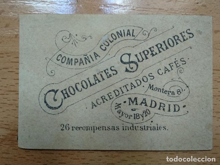 Coleccionismo Cromos antiguos: CROMO COMPAÑIA COLONIAL, CHOCOLATES SUPERIORES CAFES MADRID. - Foto 2 - 194897560