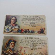 Coleccionismo Cromos antiguos: LOTE DE ANTIGUOS CROMOS ALMACEN LA IMPERIAL MADRID. Lote 194938801