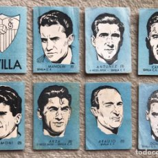 Coleccionismo Cromos antiguos: LOTE 8 CROMOS SEVILLA CLUB DE FÚTBOL - CHOCOLATES EL LINCE Y MADAM - TORRENTE (VALENCIA). Lote 194948152