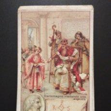 Coleccionismo Cromos antiguos: COLECCION COMPLETA DE CROMOS FIRMA DE HOMBRES CELEBRES. Lote 195040157