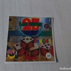 Coleccionismo Cromos antiguos: CROMO DULCES CHUCHERÍA ORTIZ SUPER BABY SER Nº 27 PARCHIS. Lote 195165271