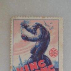 Coleccionismo Cromos antiguos: CROMO SELLO KING KONG SICE, NUNCA PEGADO. Lote 195190156