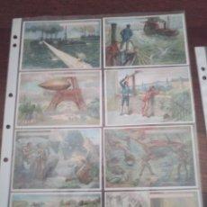 Coleccionismo Cromos antiguos: LOTE CROMOS CHOCOLATES INVENTOS MODERNOS JACINTO RICA COMPLETO BURGOS UNICO. Lote 195212993