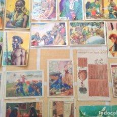 Coleccionismo Cromos antiguos: LOTE DE CROMOS DE CHOCOLATE SULTANA,BOIX,OLLE,BATANGA,PIERA Y BRUGUERAS ,SOLSONA.RAZAS HUMANAS,CINE. Lote 195213997