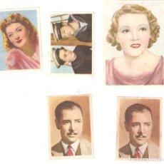 Coleccionismo Cromos antiguos: CINEFOTO 4 CROMOS HOJAS E -3 B, E -6B, E-10B, - VER NºOS. BUEN ESTADO 5,1 X 7,5 CMS .--VELL I BELL. Lote 195326403