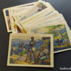 Coleccionismo Cromos antiguos: NOTAS DE UN EXPLORADOR-COLECCION COMPLETA 36 CROMOS-PUBLICIDAD CHOCOLATE TORRAS-VER FOTOS-(V-19.209). Lote 195327652
