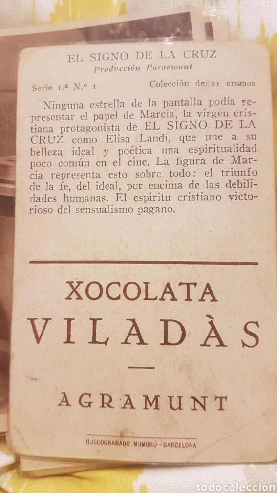 Coleccionismo Cromos antiguos: 2 colecciones completas de 21 cromos cada una EL SIGNO DE LA CRUZ AÑO 1933 - Foto 4 - 195340842