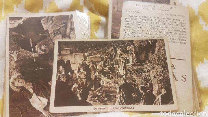 Coleccionismo Cromos antiguos: 2 colecciones completas de 21 cromos cada una EL SIGNO DE LA CRUZ AÑO 1933 - Foto 5 - 195340842