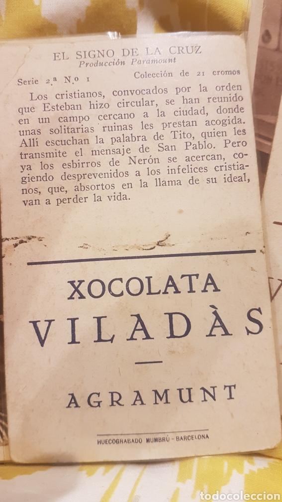Coleccionismo Cromos antiguos: 2 colecciones completas de 21 cromos cada una EL SIGNO DE LA CRUZ AÑO 1933 - Foto 6 - 195340842