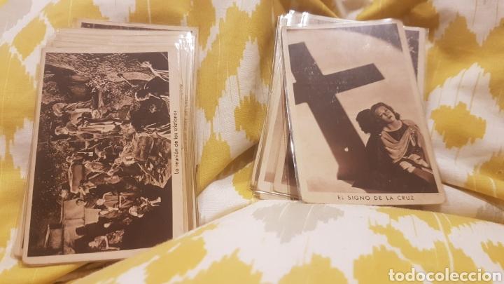 2 COLECCIONES COMPLETAS DE 21 CROMOS CADA UNA EL SIGNO DE LA CRUZ AÑO 1933 (Coleccionismo - Cromos y Álbumes - Cromos Antiguos)