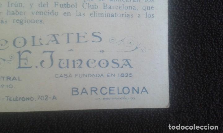 Coleccionismo Cromos antiguos: CROMO SPORTS FOOT-BALL. CHOCOLATES E.JUNCOSA. SERIE A NUM.21. LA FINAL DEL CAMPEONATO DE ESPAÑA. - Foto 9 - 195389558