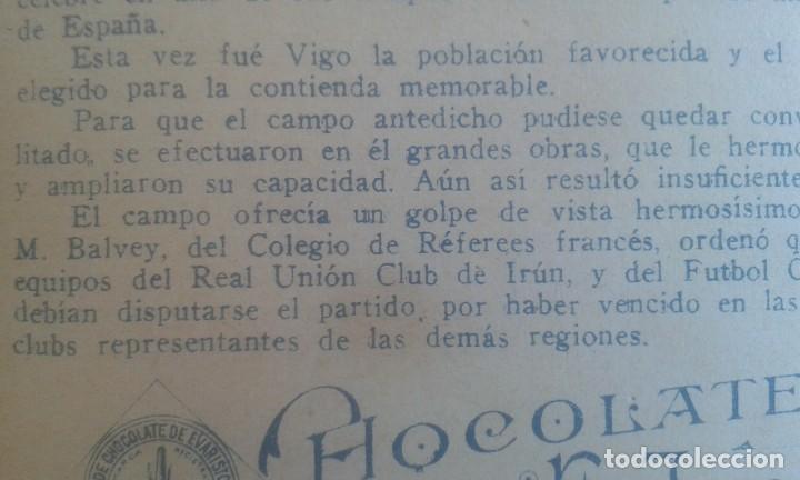 Coleccionismo Cromos antiguos: CROMO SPORTS FOOT-BALL. CHOCOLATES E.JUNCOSA. SERIE A NUM.21. LA FINAL DEL CAMPEONATO DE ESPAÑA. - Foto 10 - 195389558