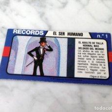 Coleccionismo Cromos antiguos: CROMO - LOS RECORDS DEL MUNDO - BIMBO - 1978 - EL SER HUMANO - Nº 1. Lote 195409861