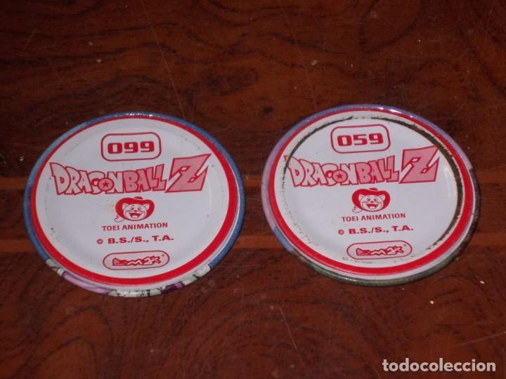 Coleccionismo Cromos antiguos: Dos tazos metálicos Dragon Ball Z. 059-099. Toei Animation B.S./B., T.A. - Foto 4 - 195424757