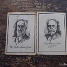 Coleccionismo Cromos antiguos: LOTE DE 2 CROMOS DE CANARIOS ILUSTRES, CIGARRILLOS CUMBRE, 1955, VER DESCRIPCION. Lote 195450150