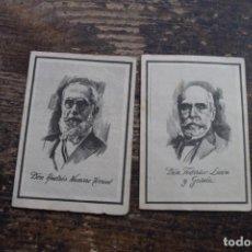 Coleccionismo Cromos antiguos: LOTE DE 2 CROMOS DE CANARIOS ILUSTRES, CIGARRILLOS CUMBRE, 1955, VER DESCRIPCION. Lote 195450196