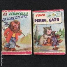 Coleccionismo Cromos antiguos: CUENTOS MINIATURA Nº 68-72 EDITORIAL ROMA EL LEONCILLO DESOBEDIENTE-COMO PERRO Y GATO. Lote 195451488