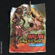 Coleccionismo Cromos antiguos: SOBRE SORPRESA MAZAN EL REY DE LA SELVA 1977 PROES EDICIONES ANCEO. Lote 195451803