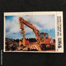 Coleccionismo Cromos antiguos: CROMO PHOSKITOS Nº 5 EXCAVADORA 1981. Lote 195463408