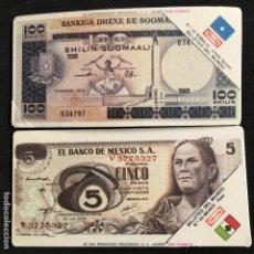Coleccionismo Cromos antiguos: CROMOS PANRICO BILLETES DEL MUNDO Nº 35 SOMALIA Nº 45 MEXICO. Lote 195464198