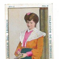 Coleccionismo Cromos antiguos: 1 CROMO - LENGUAJE DEL ABANICO - CHOCOLATE PI BARCELONA - EMBLEMAS DEL JACINTO. Lote 195469652
