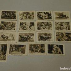 Coleccionismo Cromos antiguos: 16 CROMOS DE LA COLECCIÓN COMPLETA DE 21 DE *BEN-HUR*, CHOCOLATE JUNCOSA. INF. 8 FOTOS. Lote 195500133