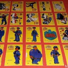 Coleccionismo Cromos antiguos: 20 X CROMO LOCA ACADEMIA DE POLICÍA WARNER BROS, PROMOCIONALES PREMIUM FIESTA, ORIGINALES 1989.. Lote 195523320