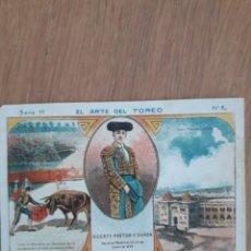 Coleccionismo Cromos antiguos: CROMO EL ARTE DEL TOREO, SERIE 1, Nº 5, . Lote 196057968