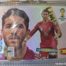 Coleccionismo Cromos antiguos: WORLD CUP BRASIL 2014 14 LIMITED EDITION ADRENALYN XL EDICIÓN LIMITADA SERGIO RAMOS. Lote 196604145