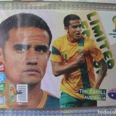 Coleccionismo Cromos antiguos: WORLD CUP BRASIL 2014 14 LIMITED EDITION ADRENALYN XL EDICIÓN LIMITADA TIM CAHILL. Lote 196604658