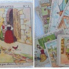 Coleccionismo Cromos antiguos: HISTORIA DE LA VIDA DE D MIGUEL DE CERVANTES. COMPLETA. SIN PUBLICIDAD. Lote 196887868