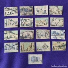 Coleccionismo Cromos antiguos: LOTE DE 17 CROMOS DE PUEBLOS DE ESPAÑA. SERIE 10. . Lote 197928648