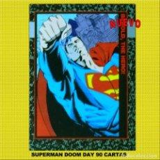 Coleccionismo Cromos antiguos: SUPERMAN DOOMSDAY ** LA MUERTE DE SUPERMAN ** 1991 EN 90 CARTAS MAS ENTIERRO Y CHECKLIST. Lote 197937987