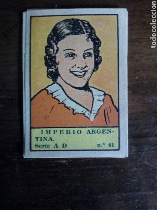 CROMO TEMA CINE LA ACTRIZ IMPERIO ARGENTINA (Coleccionismo - Cromos y Álbumes - Cromos Antiguos)