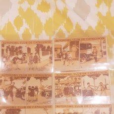 Coleccionismo Cromos antiguos: COLECCIÓN COMPLETA AUTOMOBIL CLUB DE CATALUNYA EN PERFECTO ESTADO. Lote 198647113