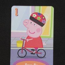 Coleccionismo Cromos antiguos: CARTA PEPA PIG-ABD 2003-PEPPA PIG ANDA EN BICI.. Lote 198846747