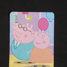 Coleccionismo Cromos antiguos: CARTA PEPA PIG-ABD 2003-MAMA PIG Y PAPA PIG ESTAN DE FIESTA.. Lote 198846885
