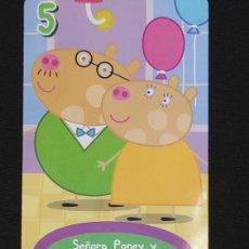 Coleccionismo Cromos antiguos: CARTA PEPA PIG-ABD 2003-SEÑORA PONEY Y SELOR PONEY EL OPTICO ESTAN DE FIESTA.. Lote 198847312