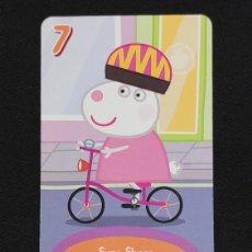Coleccionismo Cromos antiguos: CARTA PEPA PIG-ABD 2003-SUZY SEEP ANDA EN BICI.. Lote 198848210